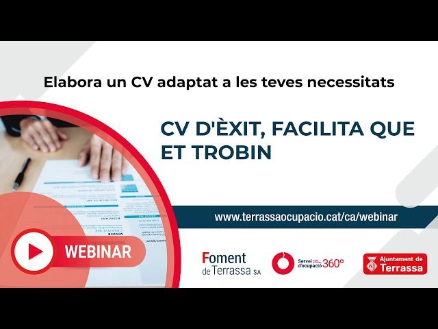 Webinar Currículum d'Èxit