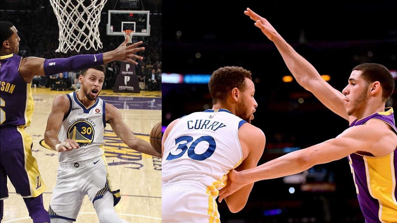 27dcac273de0 Stephen Curry vs Lonzo Ball! Curry 13 Points in Overtime! Warriors vs  Lakers 2017-18 Season