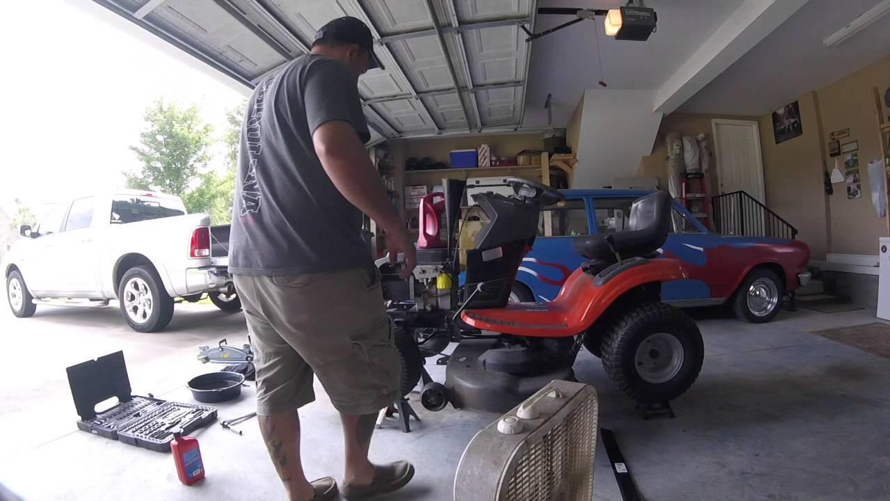 Husqvarna Lawn Mower Spark Plug and Oil Change