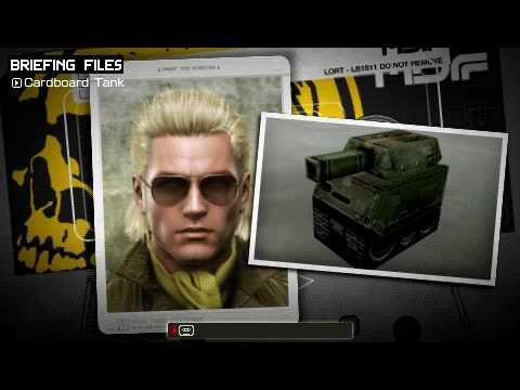 metal gear solid peace walker cardboard tank youtube