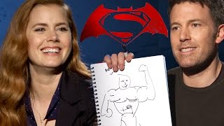 The Cast Of Batman v Superman: Dawn of Justice Draw Their Dream Super Heroes