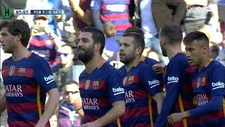 ملخص مبارة برشلونة و  خيتافي 6-0 الدوري الإسباني 12-3-2016