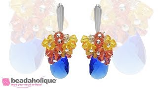How to Make Swarovski Crystal Cluster Earrings