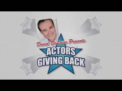 Actors Giving Back  David DeLuise and Fernanda Marrufo
