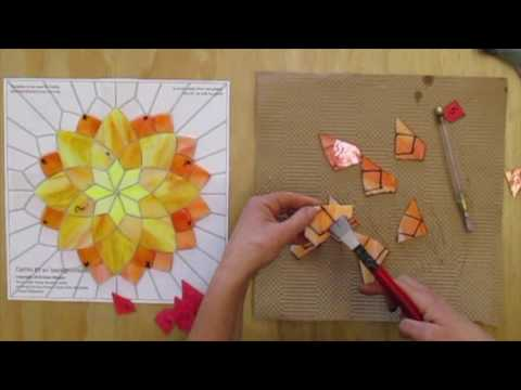 The Making of a Stained Glass Mosaic Flower by Kasia Mosaics
