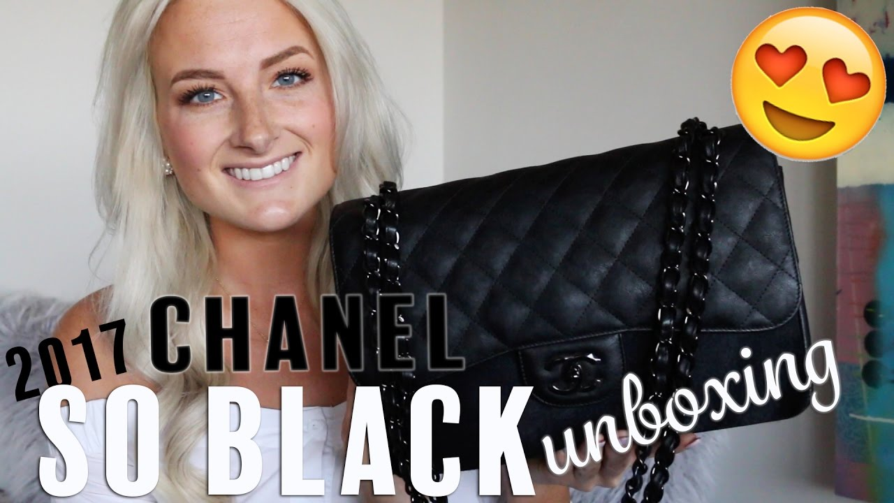 ce28c20e01ae CHANEL 2017 SO BLACK UNBOXING