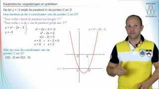 Video Wiskunde - Snijpunten van grafieken en kwadratische vergelijkingen - WiskundeAcademie download MP3, 3GP, MP4, WEBM, AVI, FLV Oktober 2018