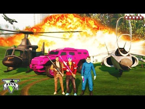 GTA 5: 5 Stare HEISTS SURVIVAL - GTA 5 Star POLICE Destruction! (GTA 5 PS4 Gameplay)