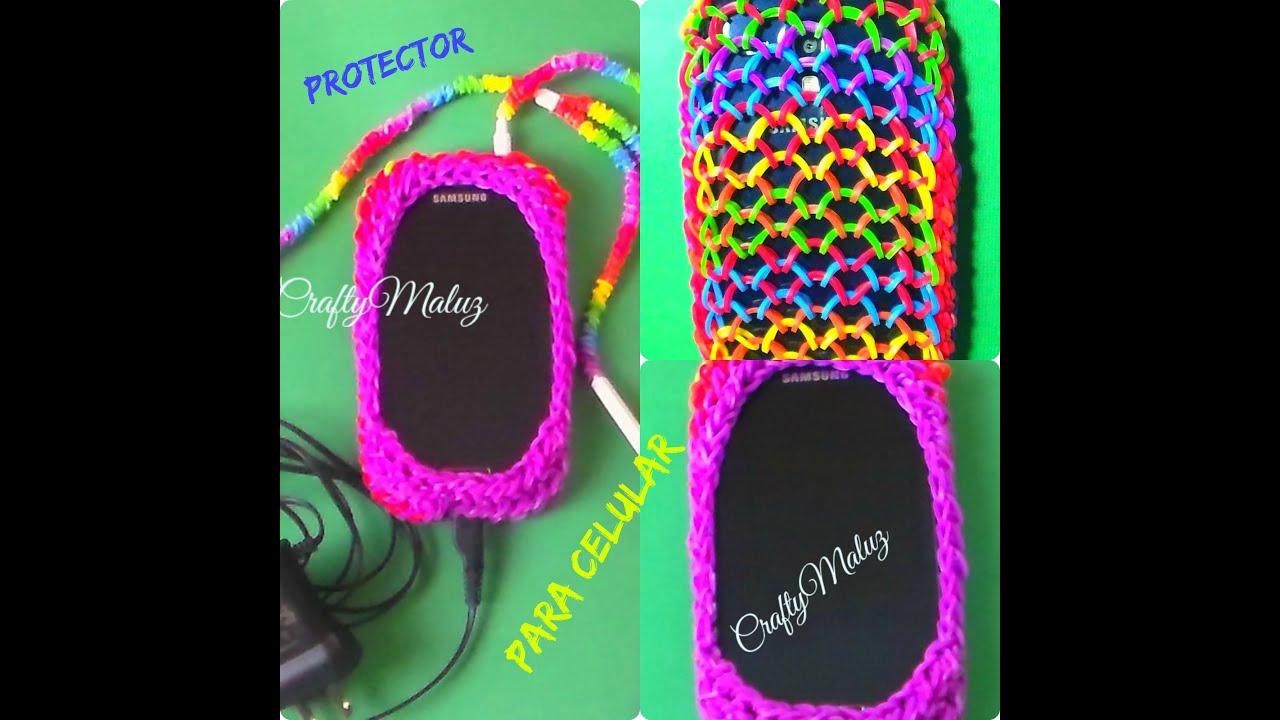 Como hacer protector para celular de gomitas o ligas how for Protectores 3d para celular