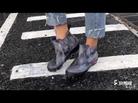 Резиновые короткие сапоги для мужчин