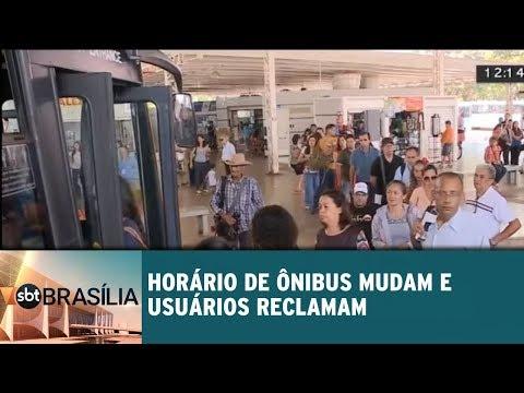Ônibus mudam horário e usuários reclamam