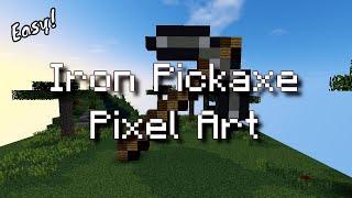 Minecraft Pixel Art - Iron Pickaxe