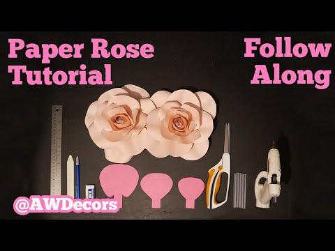 DIY Paper Rose Tutorial - Follow Along