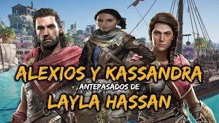 ALEXIOS y KASSANDRA son antepasados de LAYLA HASSAN | Teoria Assassin's Creed Odyssey