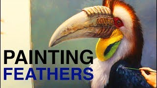 How to Paint Feathers - Painting Techniques for BIRDS!