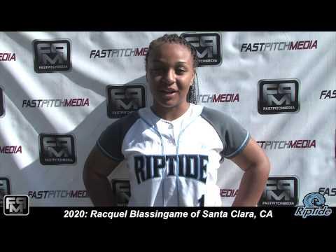 2020 Racquel Blassingame Catcher and Third Base Softball Skills Video  Riptide
