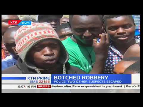 Police arrest a 13 year-old boy involved in an attempted robbery at Yana Tyres-Nakuru