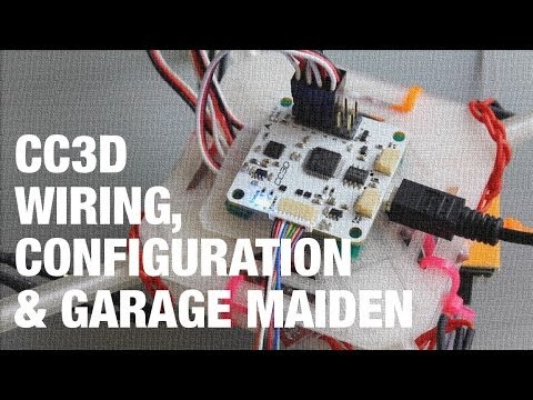 DIY Mini Quadcopter w OpenPilot CC3D Wiring, Configuration, and Garage Maiden  YouTube
