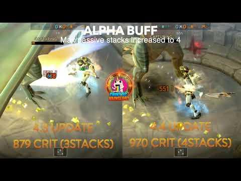 Vainglory 4.4 | Changes (buffs) Comparison