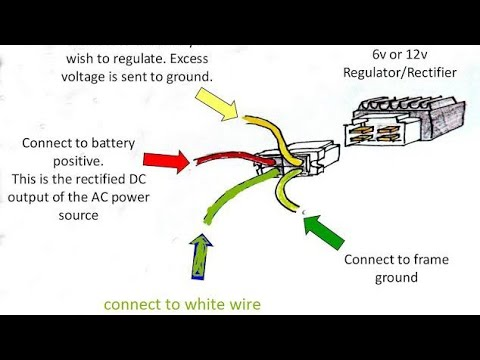 rectifier regulator 4 pin connection with wiring harness