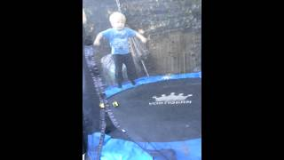3 year old baby doing front flips