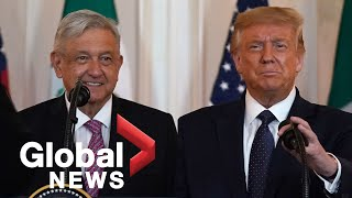 U.S. President Trump, Mexican President Obrador deliver joint statement on new trade deal | FULL