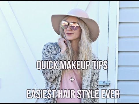 BEAUTY || easy 'wavy' hair & makeup hacks
