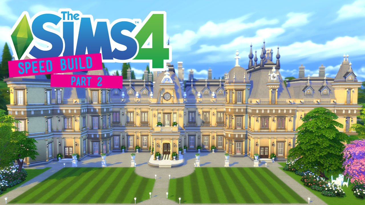 The Sims 4 Speed Build Waddesdon Manor Part 2 3