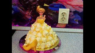 торт-кукла БАРБИ : Ещё один легкий способ \ Barbie doll cake: Another easy way