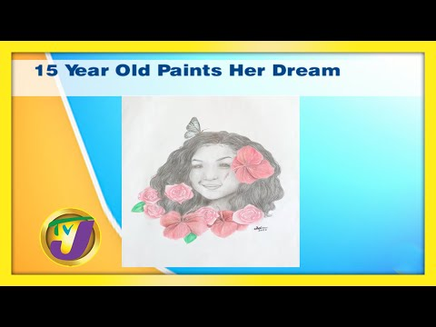 15 Year Old Paints Her Dream | TVJ Smile Jamaica