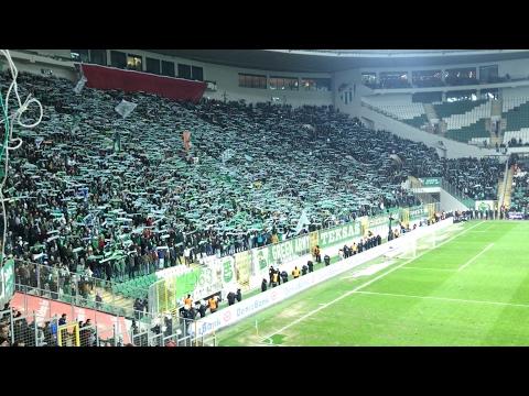 Bursaspor fenerbahçe tribün şov karşılıklı Lay Lay Lalay