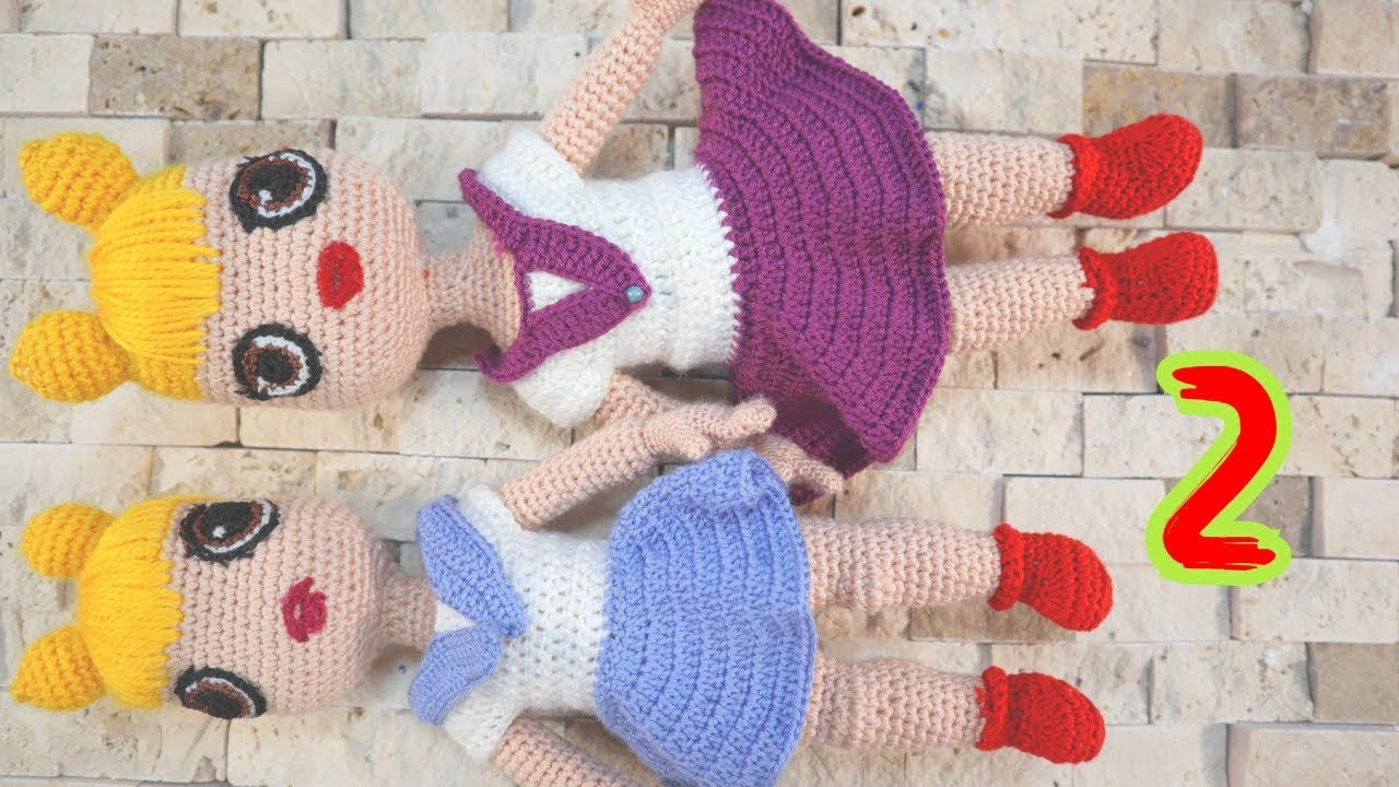 2.Amigurumi Lol Bebek Yapımı  Dudak, Göz ve Saç