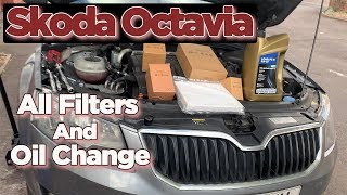 Skoda Octavia Oil Change - All Filters and Service light Reset
