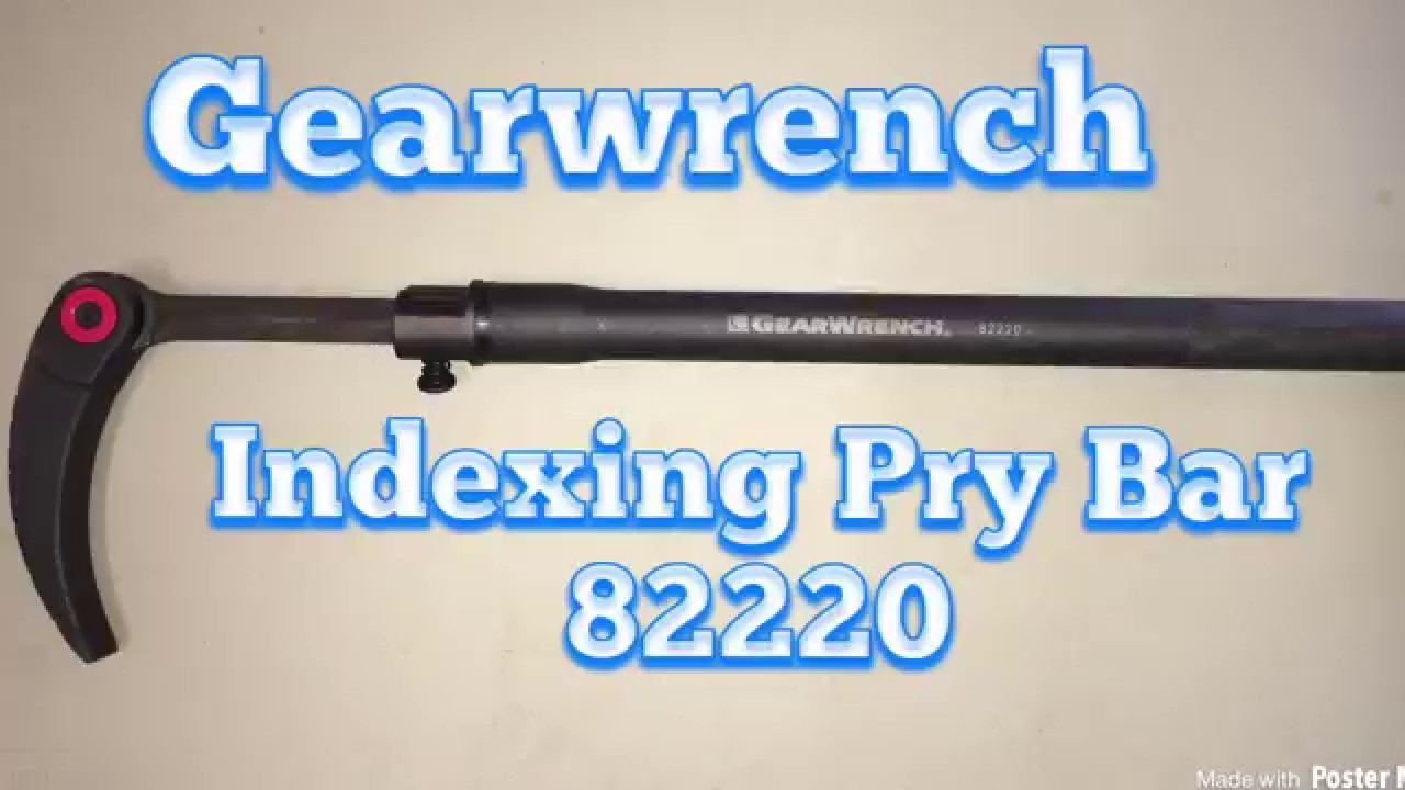 Indexing Pry Bar Gearwrench Youtube