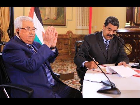 Presidente de Venezuela, Nicolás Maduro, y de Palestina, Mahmoud Abbas, se reúnen este 7 mayo 2018