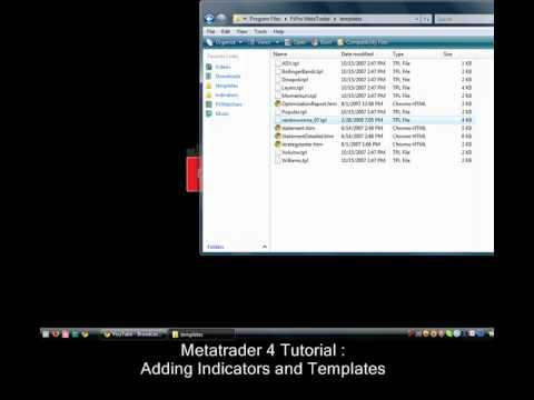 Install Mt4 Indicators And Templates Youtube