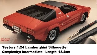 Testors 1:24 Lamborghini Silhouette Kit Review
