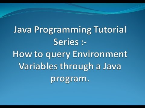 How to query Environment Variables through a Java Program ?.