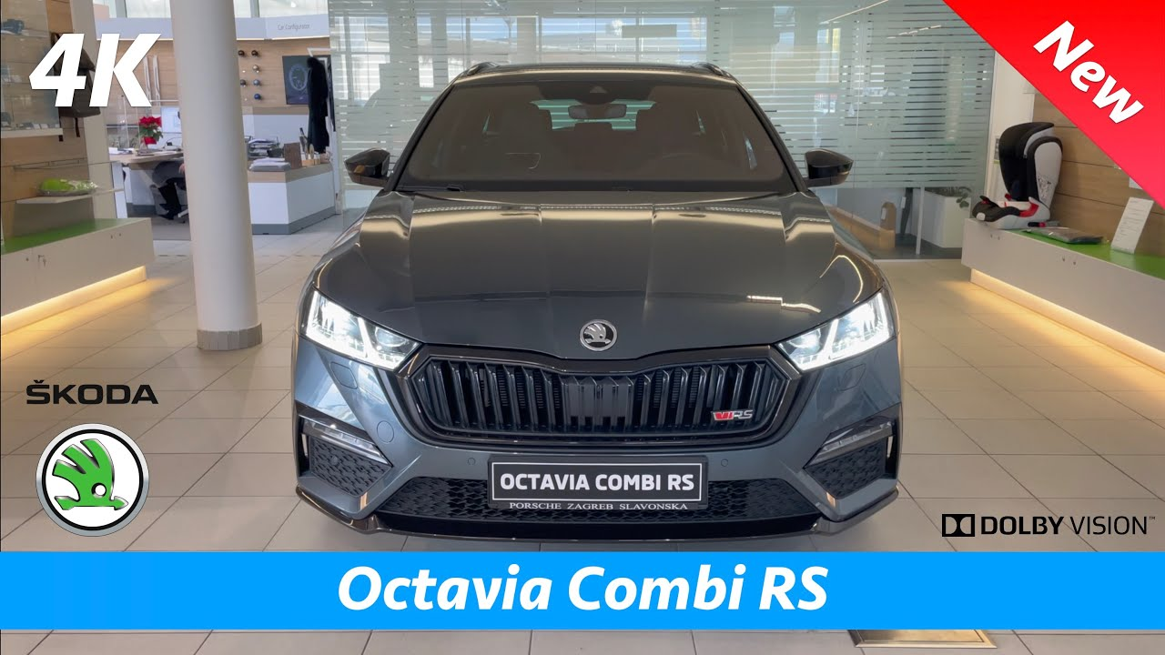 Škoda Octavia Combi RS 2021 - FIRST Look in 4K   Exterior ...