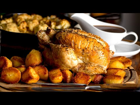 Roast Chicken Dinner with a delicious gravy