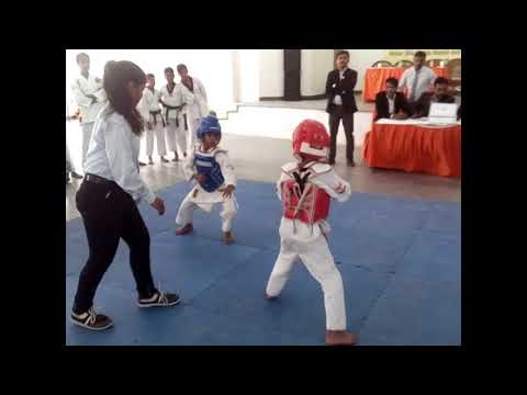 Amazing Kid Martial arts fight 2017blue corner Raghav 8 years old