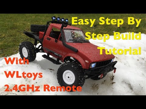 WPL C14 1:16 Toyota Hilux Crawler Build With WLtoys K989 Receiver: Full Step By Step Tutorial!