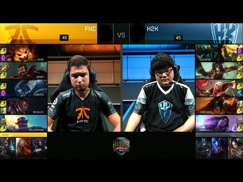 Fnatic vs H2K Gaming | Game 2 Quarter Finals S6 EU LCS Summer 2016 PlayOffs | FNC vs H2k G2 QF 1080p