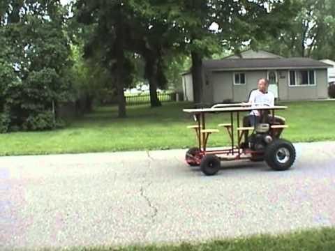 Bar Cart Wheelie Bar Stool Motorized Picnic Table YouTube - Motorized picnic table for sale