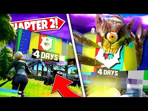 *NEW* PLAYERS DISCOVER RISKY REELS *COUNTDOWN MESSAGE* EASTER EGG IN CHAPTER 2! (Battle Royale)