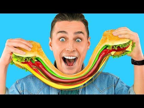 تحدي الأكل الحقيقي مقابل الأكل المطاطي تحديات الطعام