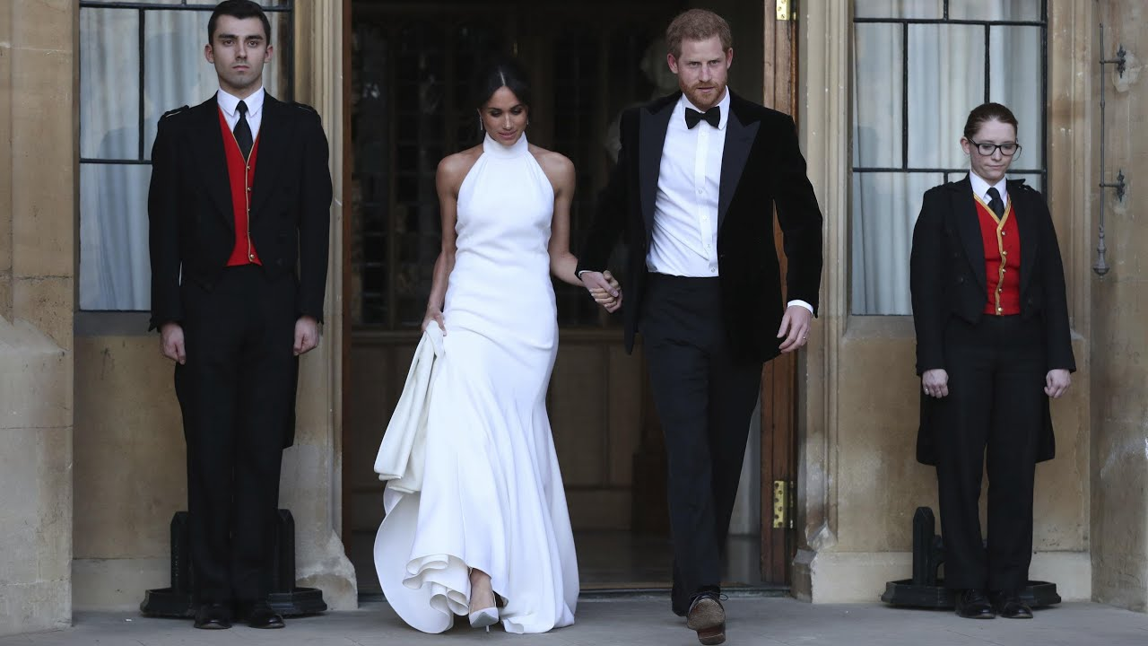 duke-and-duchess-of-sussex-depart-in-jaguar-for-wedding-reception
