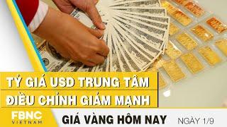 Giá vàng mới nhất 1/9   Tỷ giá USD trung tâm điều chỉnh giảm mạnh   FBNC