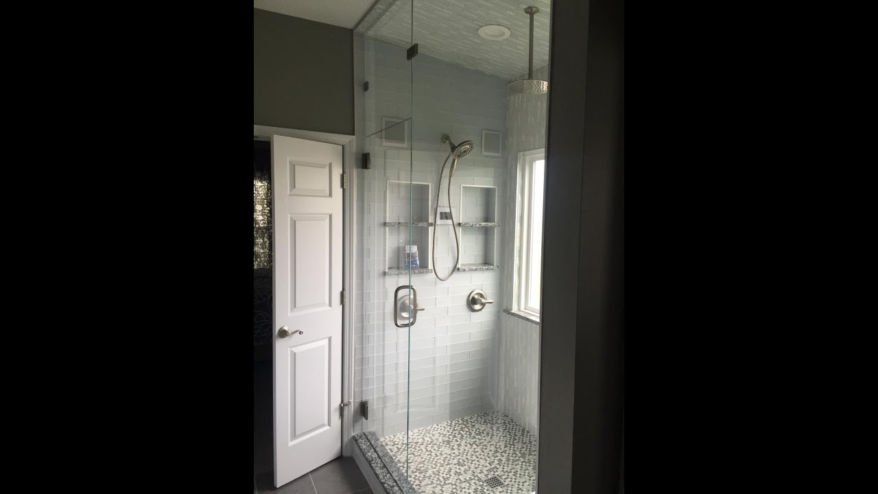 Captivating Glass Tile Steam Shower With Speakers, Touchscreen And Bluethooth