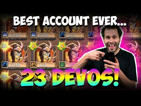 Best Castle Clash Account EVER!!! 23 DEVOS?!